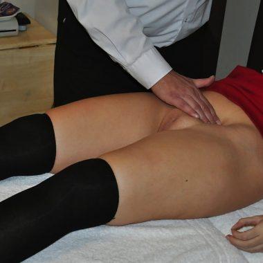 Frauenarzt abdrücken